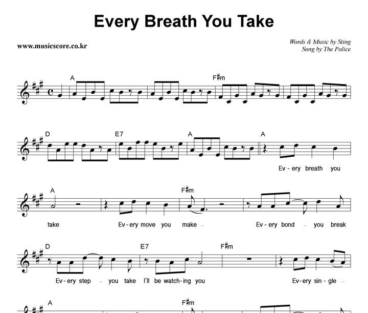 Every Breath You Take The Police VAGALUME - satukis.info