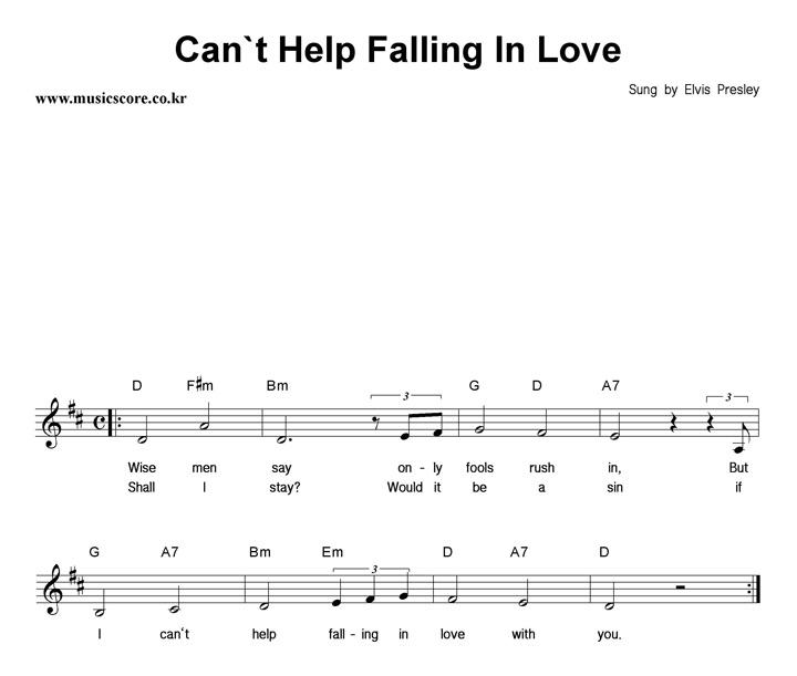 Elvis Presley Can 39 T Help Falling In Love
