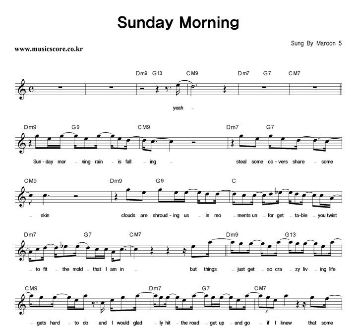Colorful Sunday Morning Maroon 5 Chords Gallery - Beginner Guitar ...