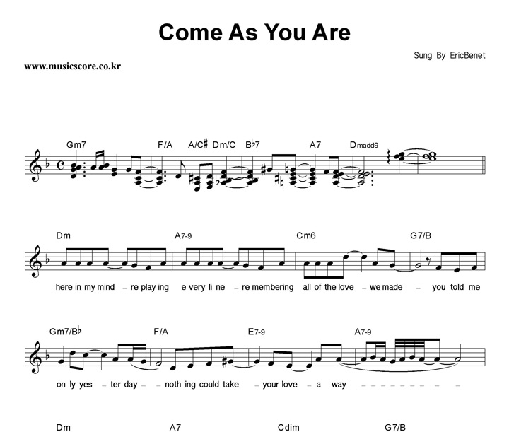 Funky Come As You Are Chords Embellishment - Beginner Guitar Piano ...