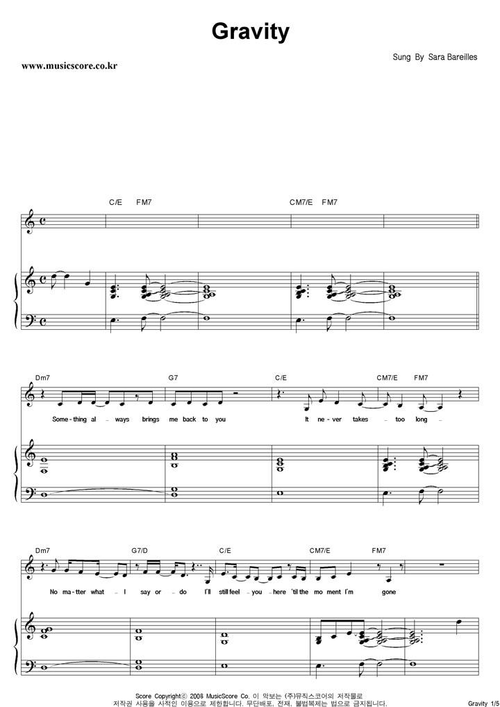 Gravity Sara Bareilles Guitar Chords Image collections - basic ...