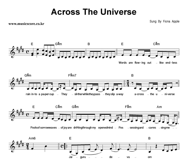 Awesome Across The Universe Chords Ukulele Elaboration Beginner