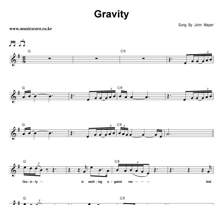 Enchanting John Mayer Gravity Chords Embellishment Basic Guitar
