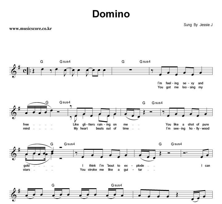 Jessie J Domino 악보 샘플