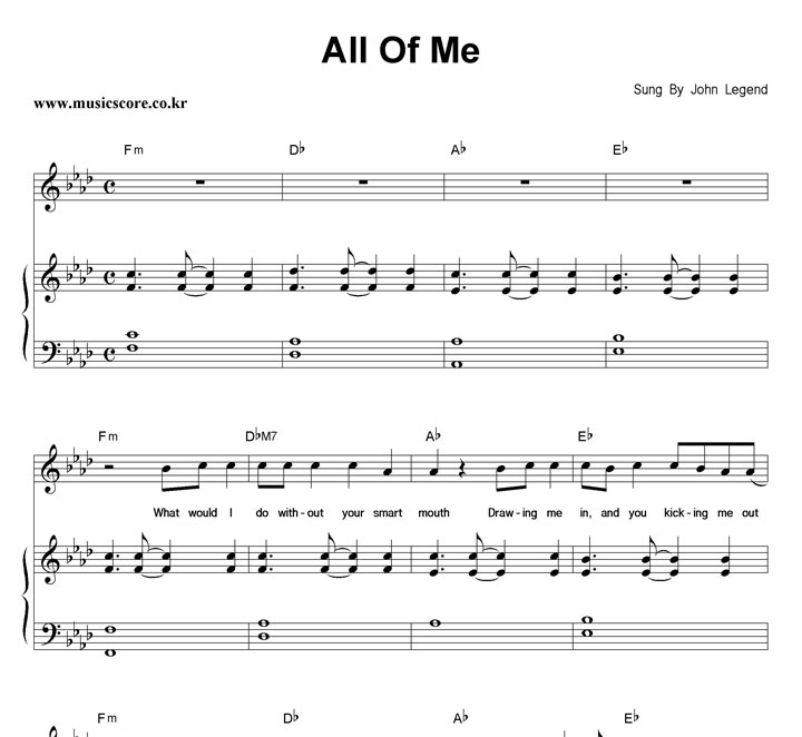 all of me chords - 720×662