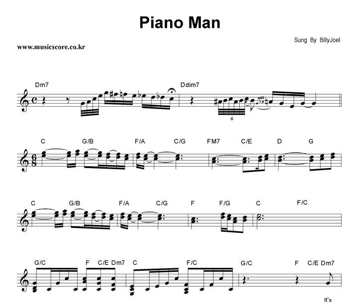 Piano Man Chords Ver 5 By Billy Joel Ultimateguitarcom