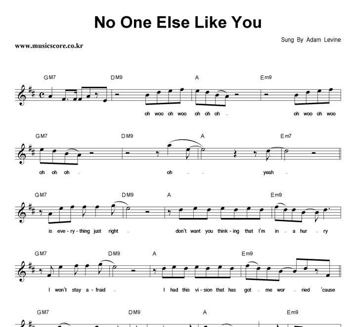 No One Else Like You Adam Levine Instrumental