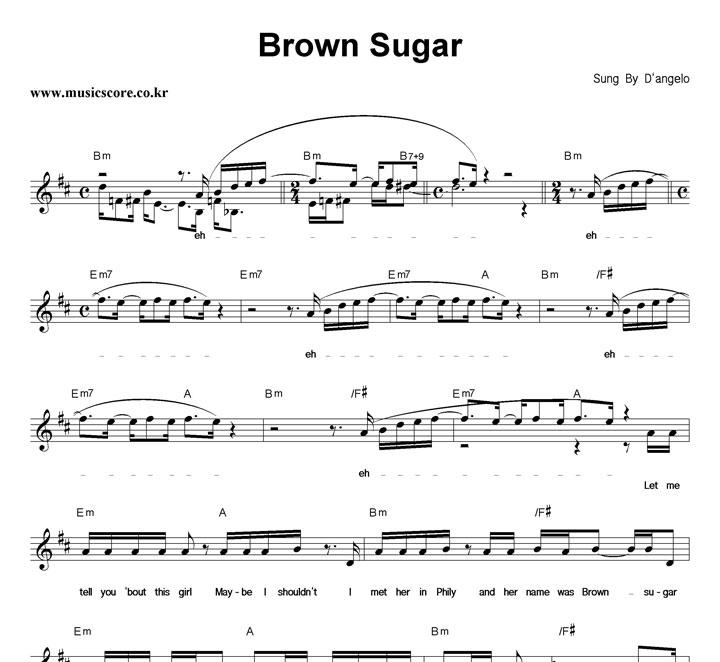 Dangelo Brown Sugar Clean Version