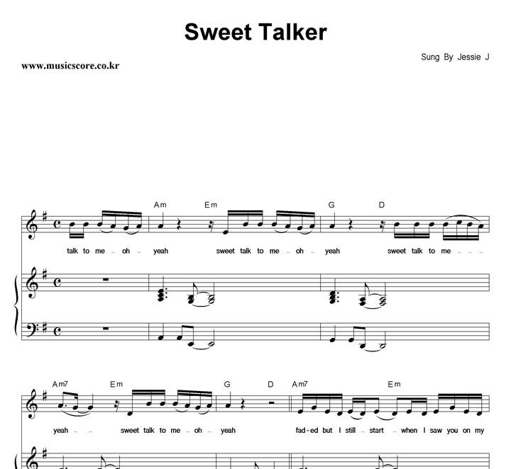Jessie J Sweet Talker 피아노 악보 샘플