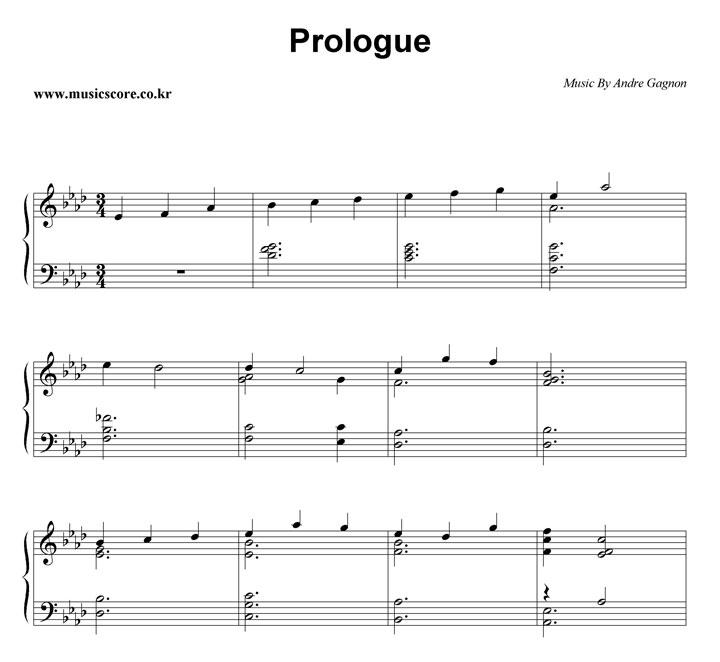 Andre Gagnon Prologue 악보 샘플