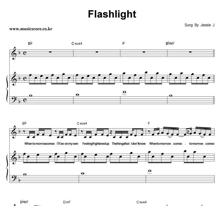 Jessie J Flashlight 피아노 악보 샘플