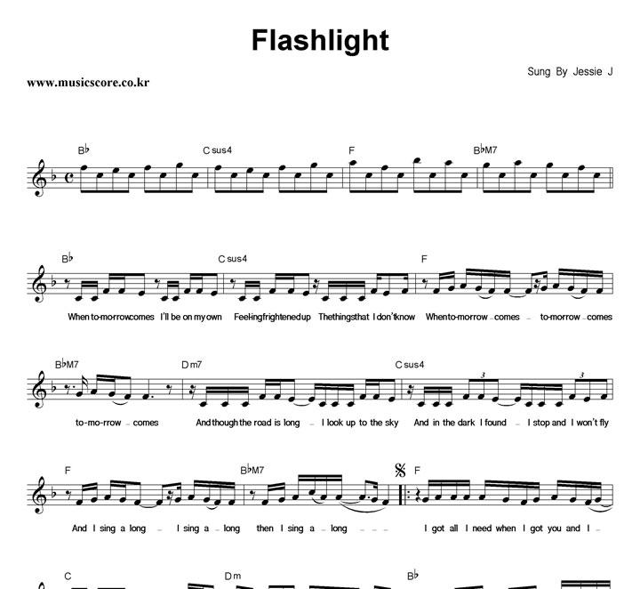 Jessie J Flashlight 악보 샘플