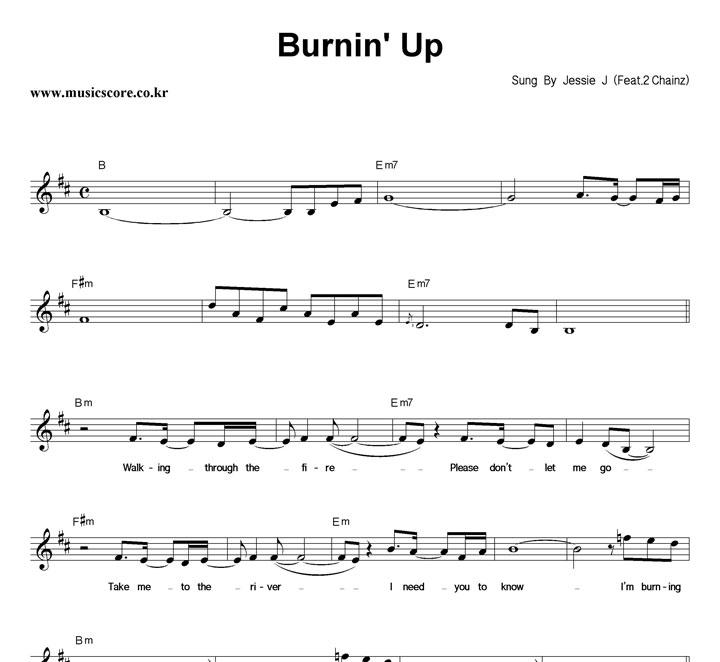 Jessie J Burnin` Up 악보 샘플