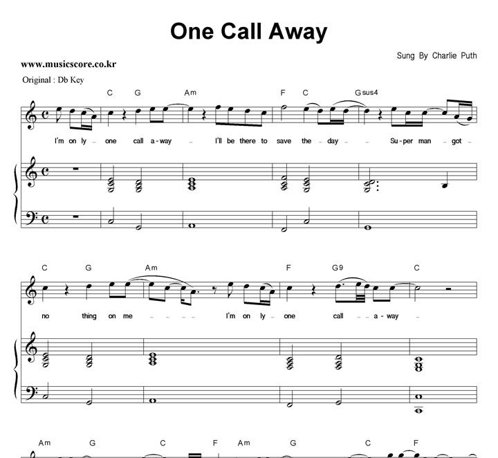 Piano piano chords of one call away : One Call Away Chords Related Keywords - One Call Away Chords Long ...