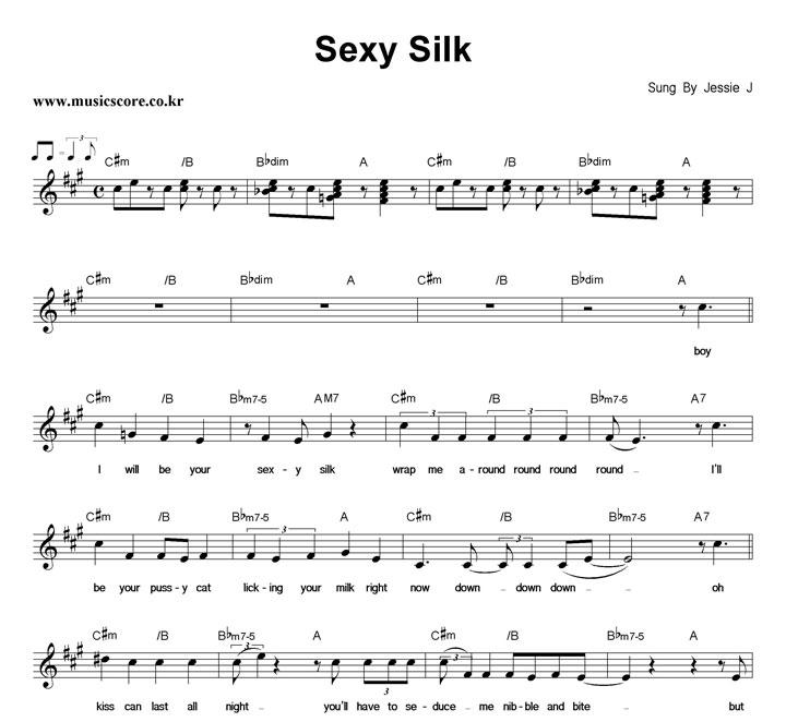 Jessie J Sexy Silk 악보 샘플