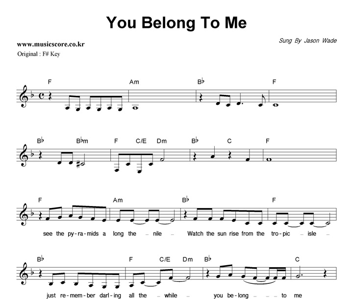 best You Belong To Me Lyrics And Chords Jason Wade image collection