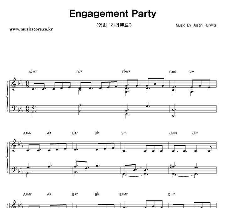 Justin Hurwitz Engagement Party 악보 샘플