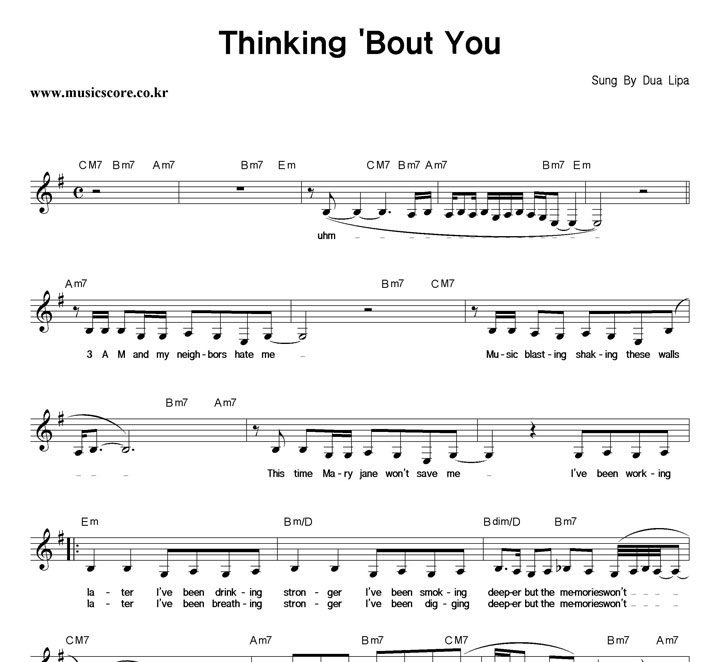 Thinkin Bout You Piano Chords Images Chord Guitar Finger Position