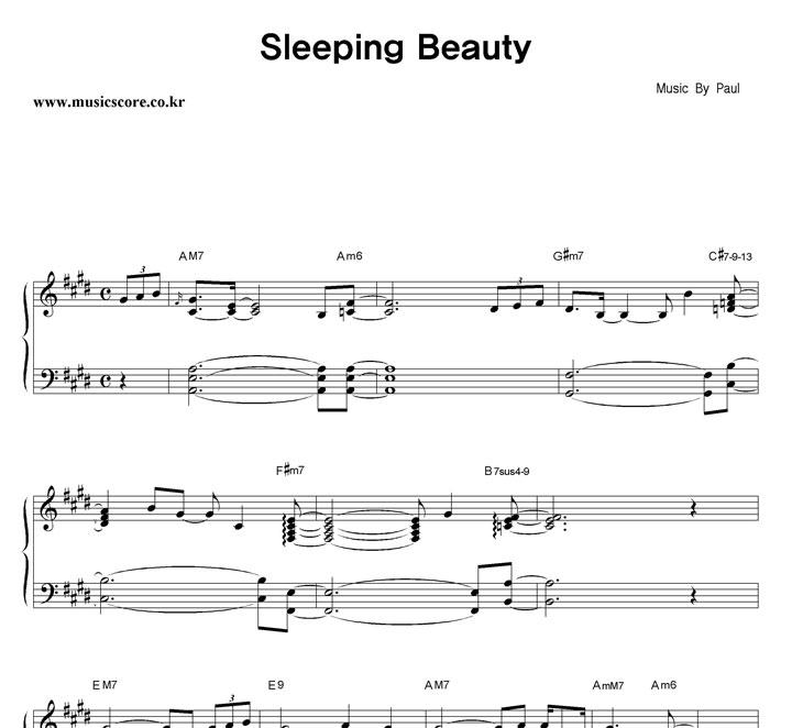 Paul Sleeping Beauty 악보 샘플