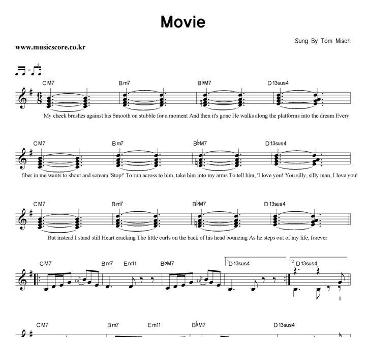 Tom Misch Movie 악보 : 악보가게