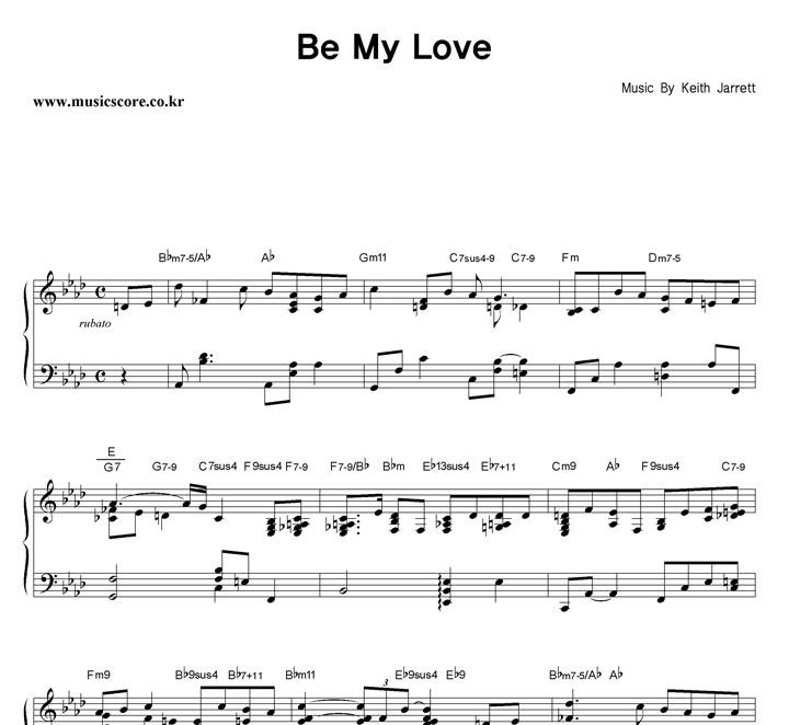 Keith Jarrett Be My Love 악보 샘플