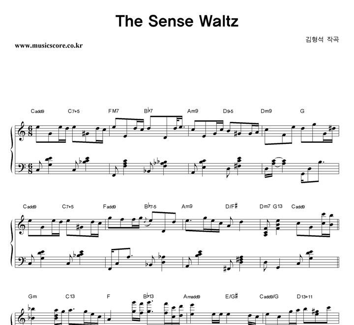 김형석 The Sense Waltz 악보 샘플