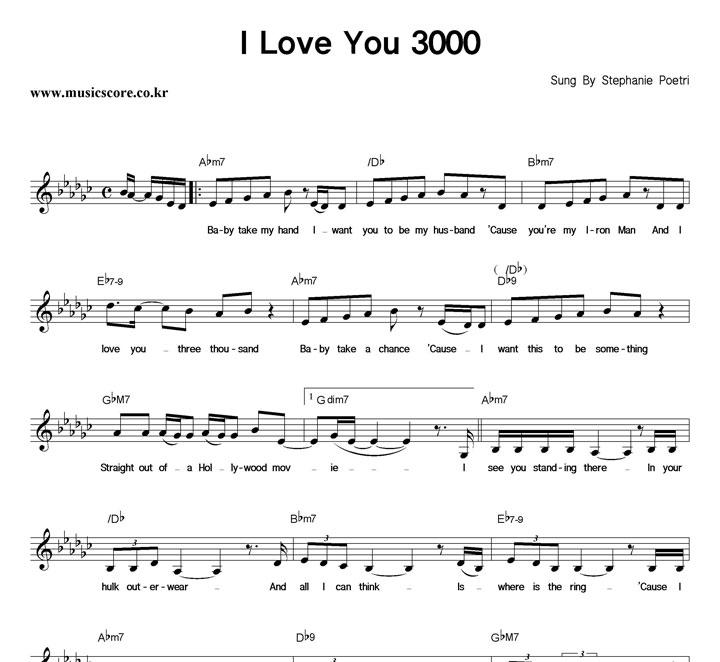 Chord i love you 3000